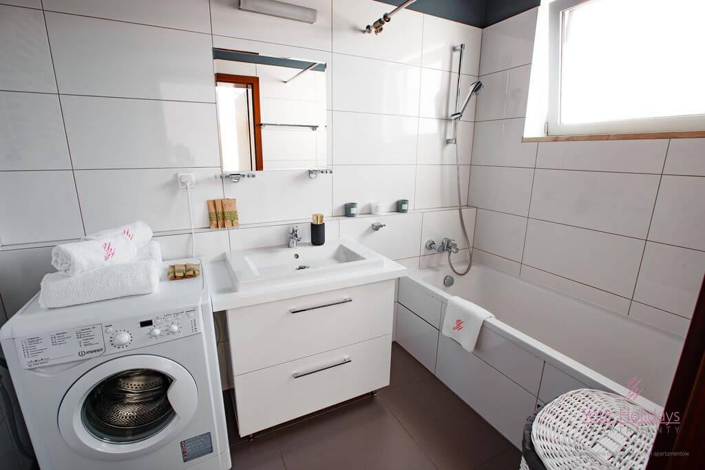 Międzyzdroje Apartament Promenada Gwiazd 28/1001 - łazienka w apartamencie blisko morza