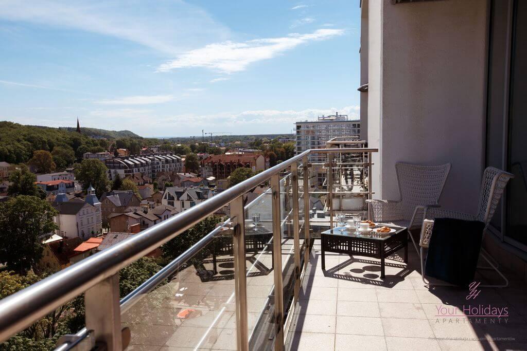 Międzyzdroje Apartament Promenada Gwiazd 28/1001 - widok z balkonu w apartamencie blisko morza