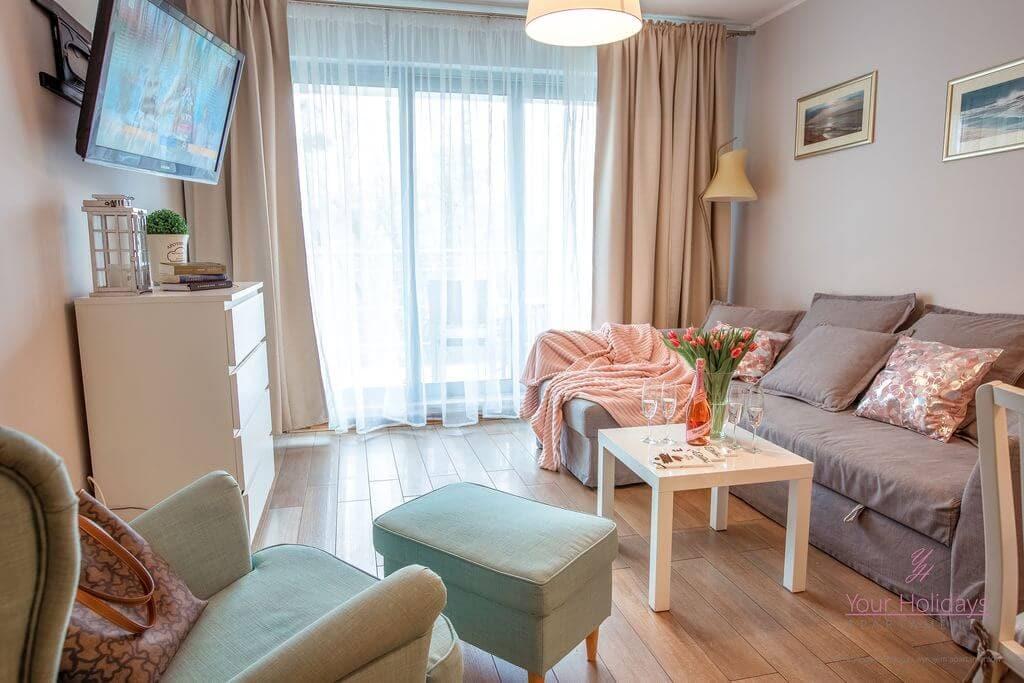 Międzyzdroje Apartament Promenada Gwiazd 28/307 - salon