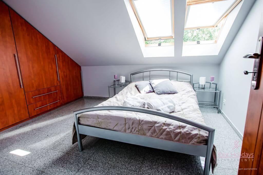 Międzyzdroje Apartament Red Attico - sypialnia