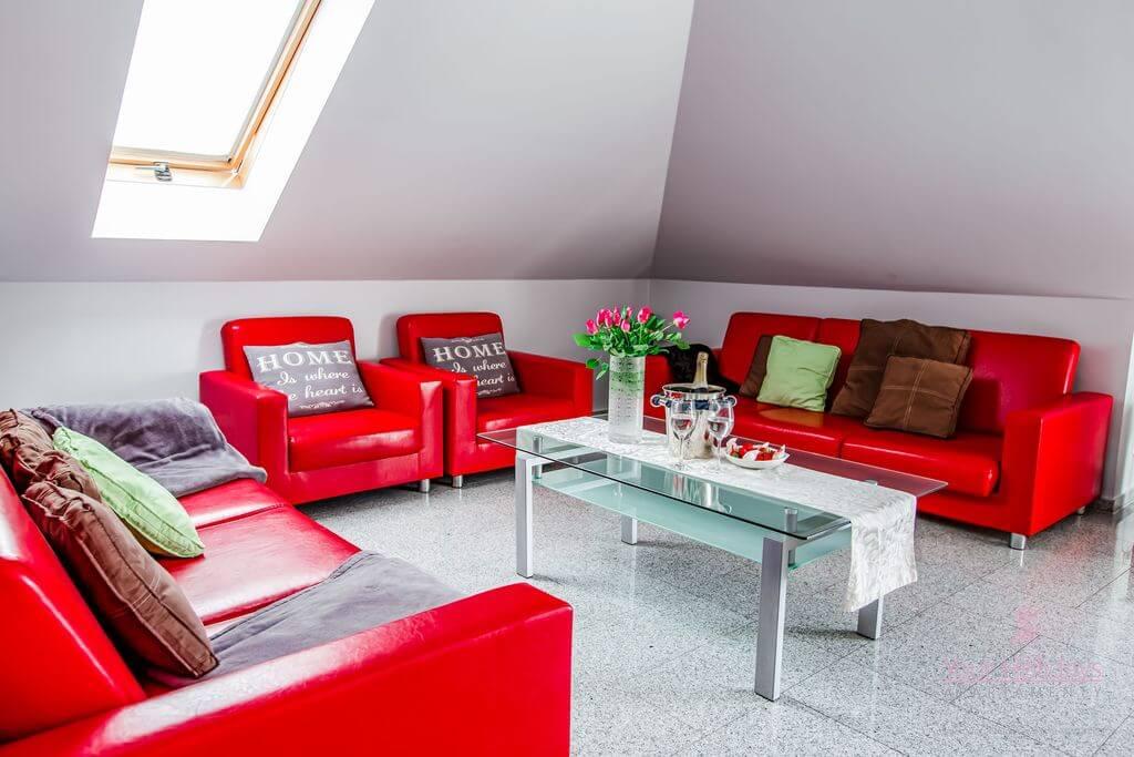 Międzyzdroje Apartament Red Attico - salon