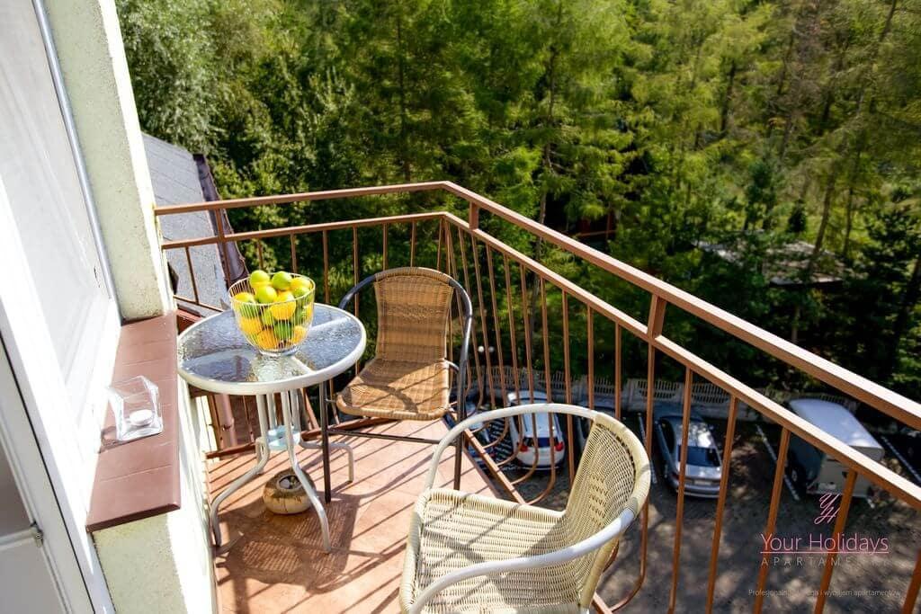 Międzyzdroje Apartament Red Attico - balkon
